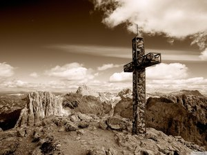 安卓风景 灰色 摄影 十字架手机壁纸