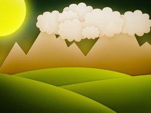 安卓动漫 卡通 可爱 落日 植物 花 儿童桌面专用 尼玛手机壁纸