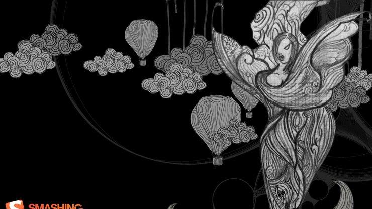 安卓设计 手绘 黑色手机壁纸