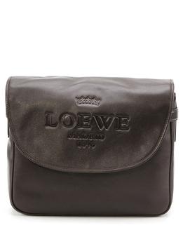 loewe罗意威褐色羊皮材质经典logo压花元素纯色男士