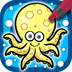 儿童画画游戏:海洋动物