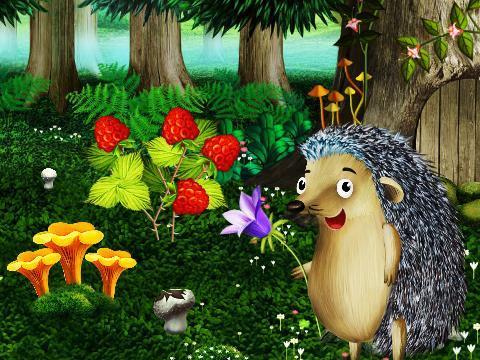 森林背景 小动物