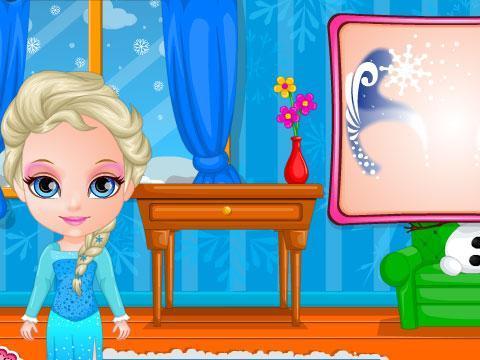 芭比宝贝的冰雪奇缘彩绘