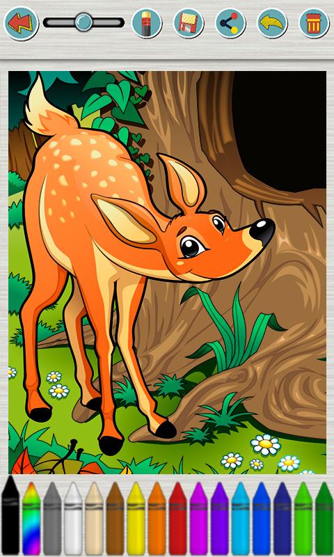 儿童画画游戏:动物涂色