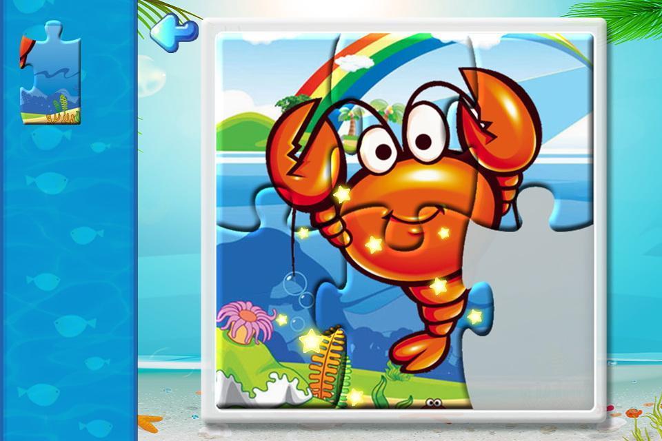 软件 儿童亲子 >宝宝识字之海洋动物拼图游戏  最有趣的奇幻海底世界