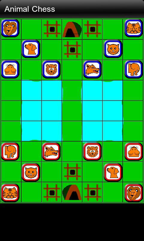 请下载斗兽棋(动物棋)游戏,    = 最简单的ui    = 最聪明的人工