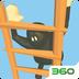 笨拙攀爬-小黑人爬梯子