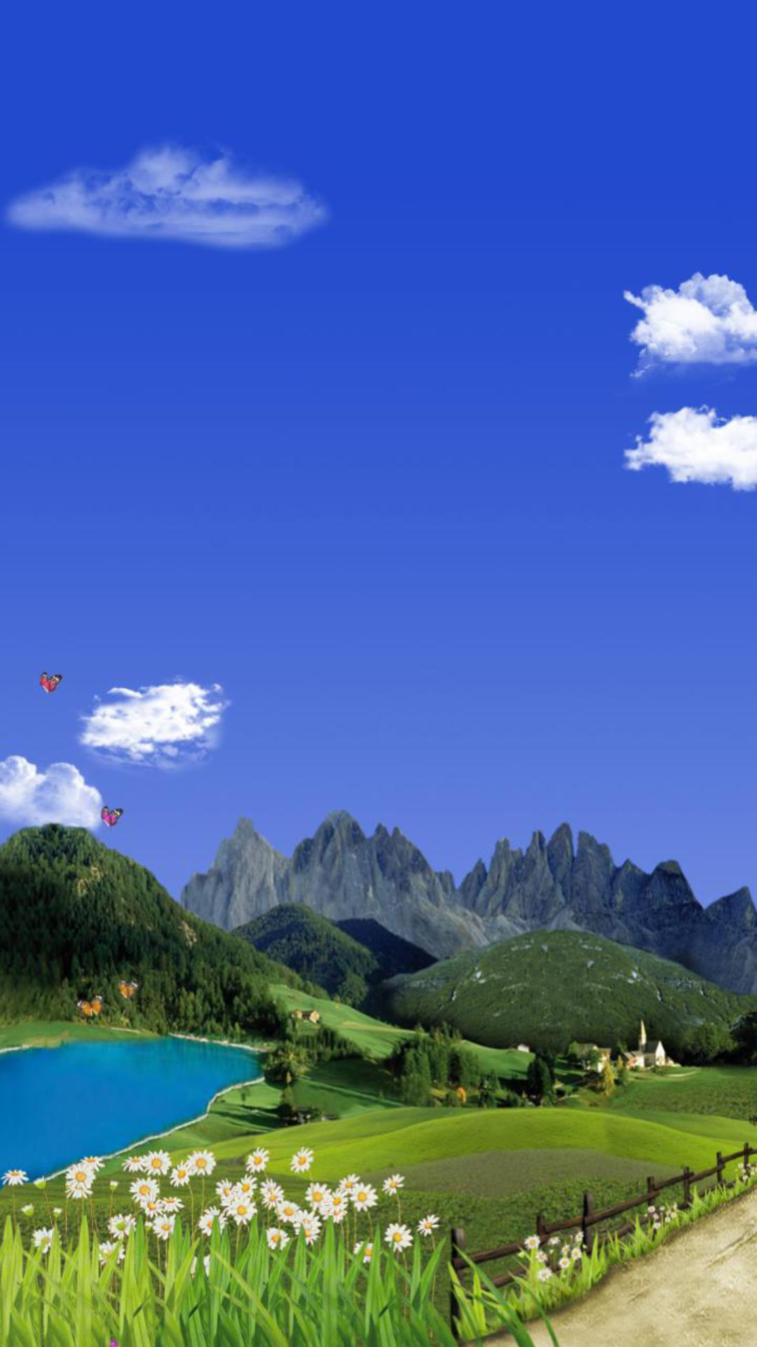 美丽山水主题动态壁纸截图1
