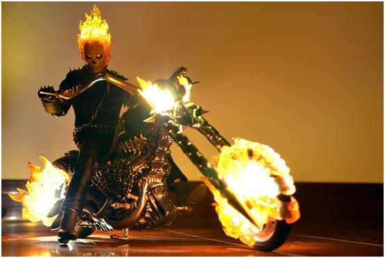 燃烧的骷髅头 《十万个大魔王》恶灵骑士霸道男人味