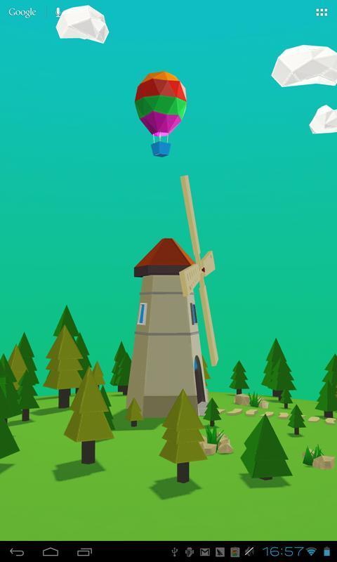 风车3d互动壁纸