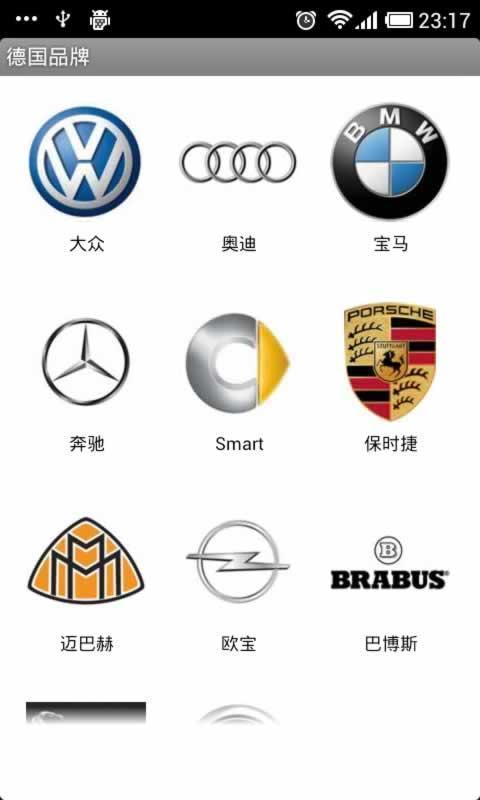 汽车品牌世界截图2