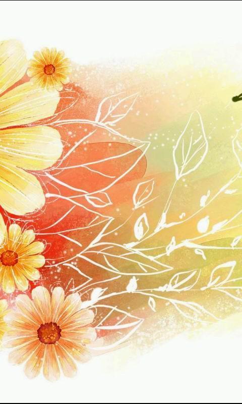 韩国手绘花朵壁纸