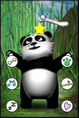 游戏虽然跟《会说话的汤姆猫》是一样的玩法,但是可爱的熊猫还是让